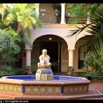 Courtyard with fountain, Balboa Park. San Diego, California, USA