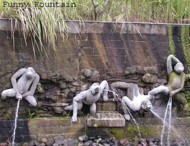 funny apes fountain